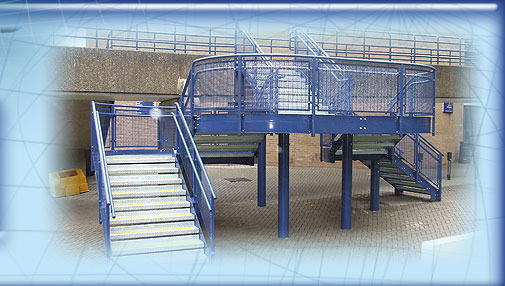 Blue External Steel Walkway image