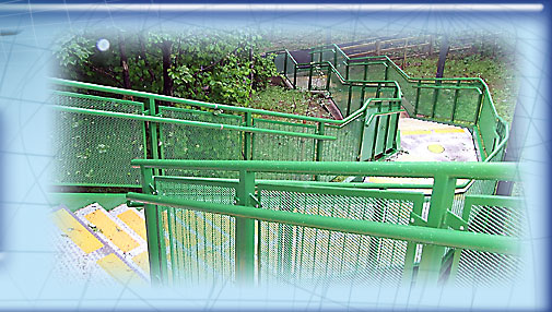 Green External Steel Walkway image