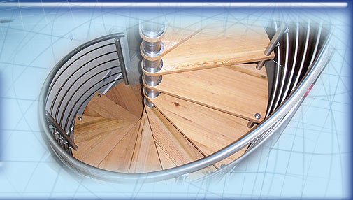 Stainless Steel Spiral Stairs image